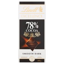 Lindt Excellence Dark 78% Cocoa Chocolate Bar 100G