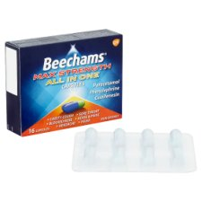 image 2 of Beechams Max Strength All In One 16 Capsules
