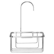Croydex Shower Riser Rail Hook Caddy Chrome