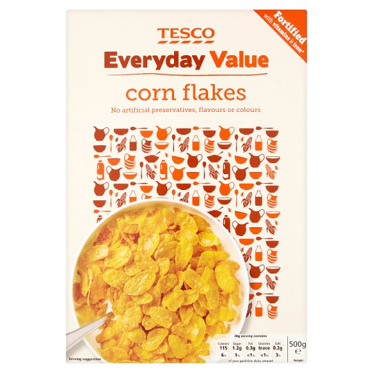 Tesco Everyday Value Corn Flakes Cereal 500G