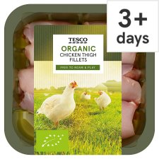 Tesco Organic Chicken Thigh Fillet 400G