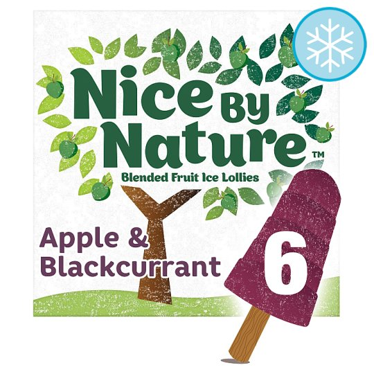 image 1 of Nice By Nature Apple And Blackcurrant Lollies 6X40ml