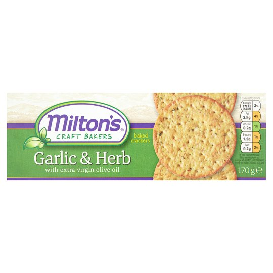 Milton's Garlic And Herb Crackers 170G