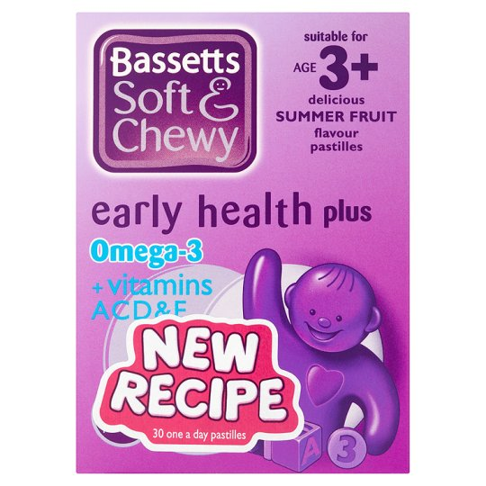 Bassetts Chewy Omega 3-Dha Plus Acde 30 Summerfruits