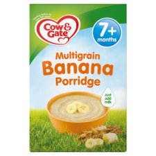 Cow & Gate Multigrain Banana Porridge 200G 7 Month Plus