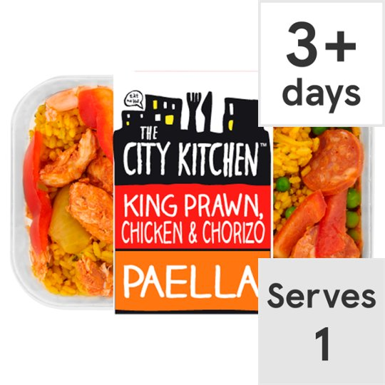 City Kitchen the city kitchen prawn and chicken paella ready meal 400g