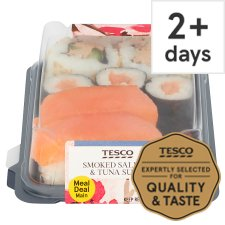 Tesco Salmon & Tuna Sushi 136G