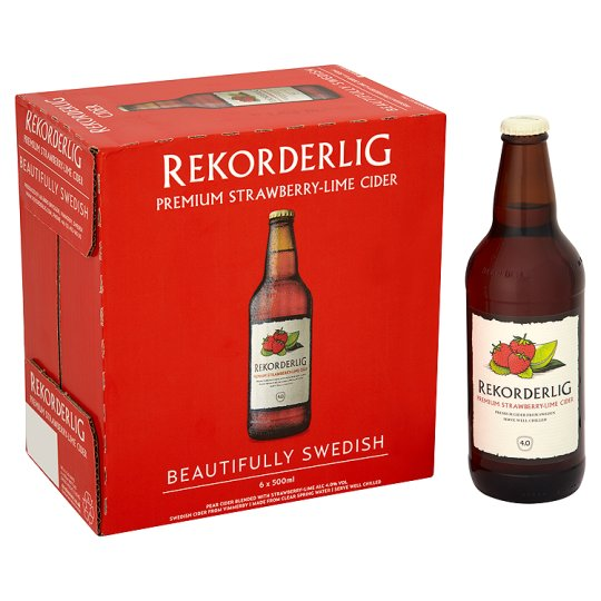 Rekorderlig Strawberry-Lime 6X500ml