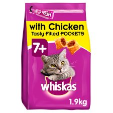 image 1 of Whiskas 7+ Chicken Senior Dry Cat Food 1.9Kg