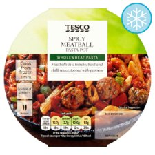 Tesco Spicy Meatball Pasta Pot 300G