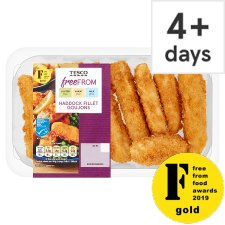Tesco Free From Haddock Goujons 200G