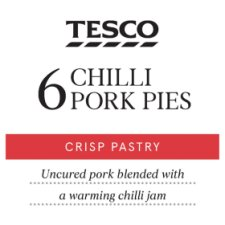 Tesco 6 Chilli Pork Pies 300G