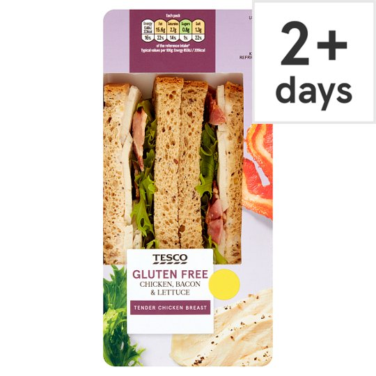 Tesco Gluten Free Chicken, Bacon And Lettuce Sandwich