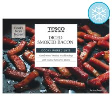 Tesco Diced Smoked Bacon 250G