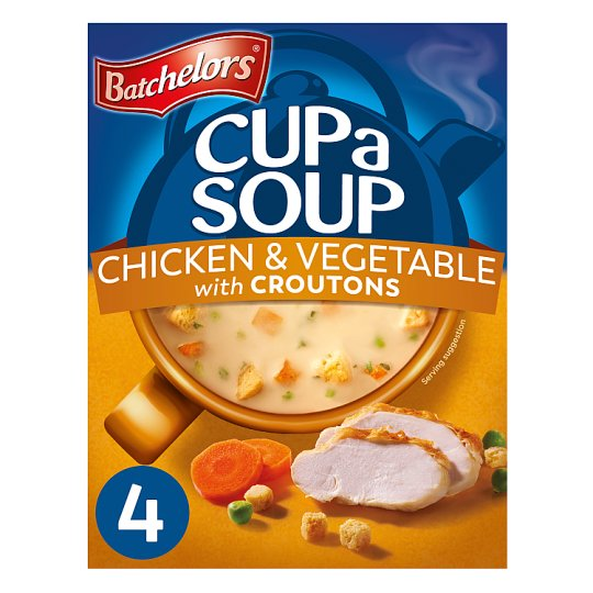 Batchelors Cup A Soup Chicken And Vegetable Croutons 4 Pack 110G
