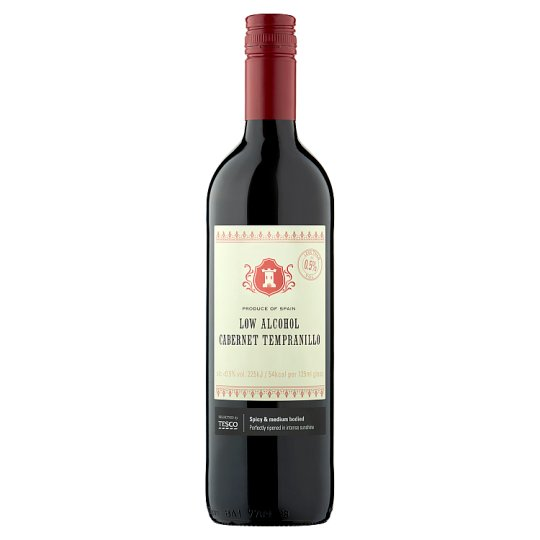 Tesco Low Alcohol Cabernet Tempranillo 75Cl