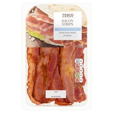 Tesco Cooked Smoked Bacon Strips 70G
