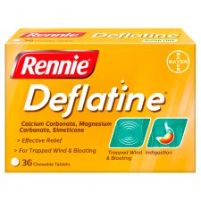 Rennie Deflatine Indigestion Tablets 36'S