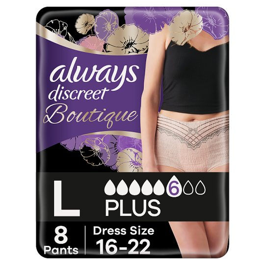 Always Discreet Boutique Bladder Weakness Pants Large 8