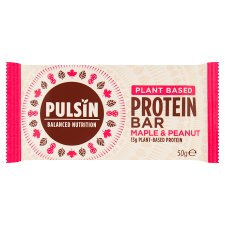Pulsin Maple And Peanut Protein Bar 50G