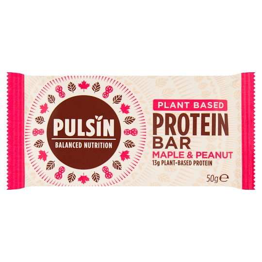 Pulsin Maple And Peanut Protein Snack 50G