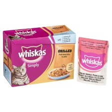 Whiskas Simply Grilled Fish Jelly 12X85g