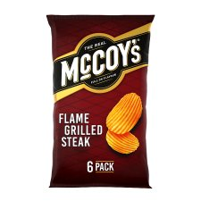 Mccoy's Flame Grilled Steak Crisps 6X25g