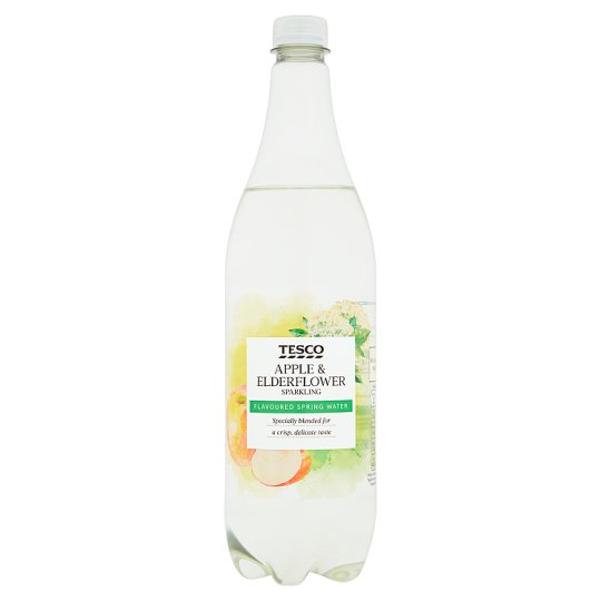 Tesco Apple And Elderflower Sparkling Water 1 Litre