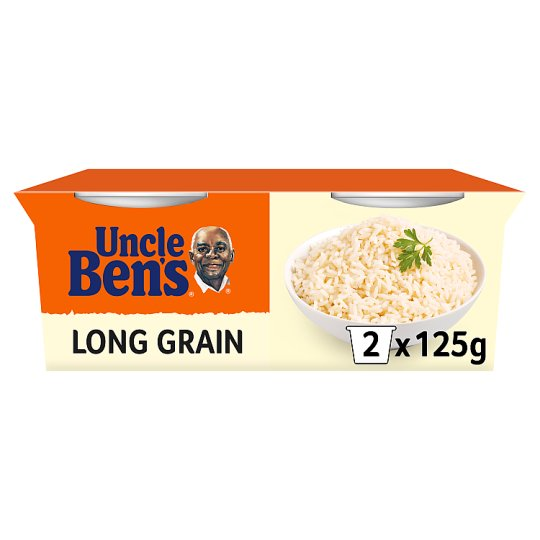 Uncle Bens Rice Cups Long Grain 2X125g