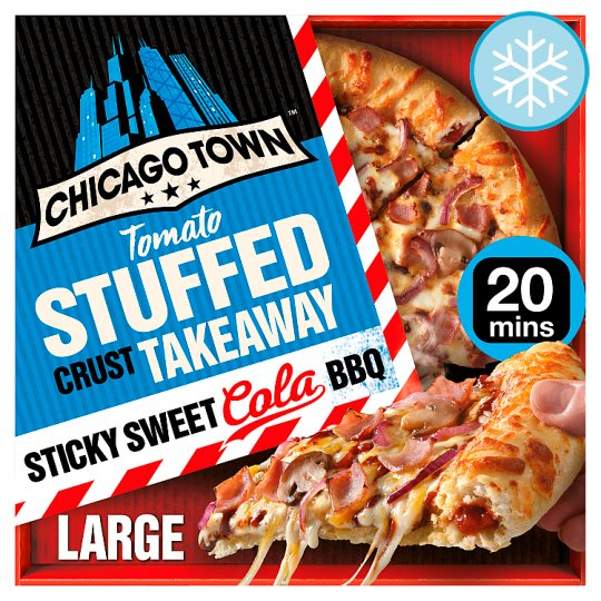 Chicago Town Takeaway Sweet Cola Bbq Stuffed Pizza 650G