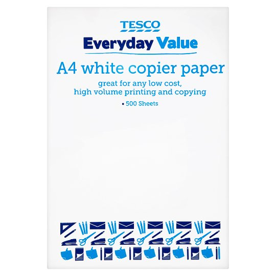 Tesco Basics A4 White Paper 500 Sheets 75Gsm