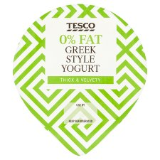 Tesco 0% Fat Greek Style Yogurt 200G