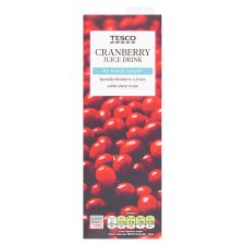 Tesco No Added Sugar Cranberry Juice Drink 1 Litre