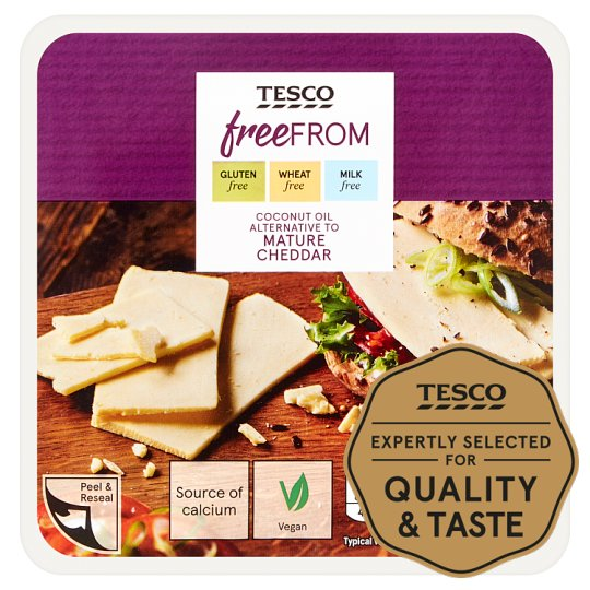 Tesco Free From Coconut Oil Alternative To Mature Cheddar 200G