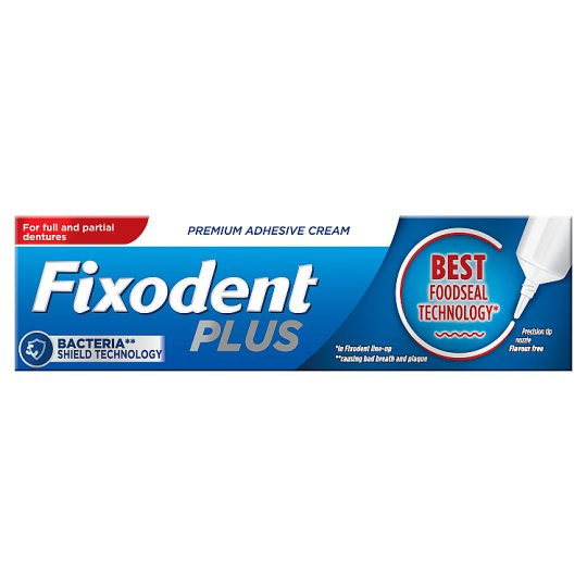 Fixodent Adhesive Cream Food Seal 40G
