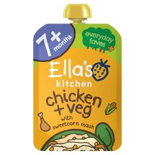 Ella's Kitchen Chicken & Sweetcorn Mash With Herbs 130G