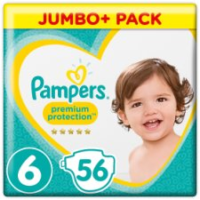 Pampers Premium Protection Size 6 Jumbo+ Pack 56 Nappies