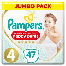 Premium Protection Pants Size 4 47 Nappies Jumbo Pack