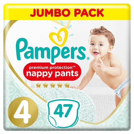 image 1 of Pampers Premium Protection Pants Size 4 47 Nappies Jumbo Pack