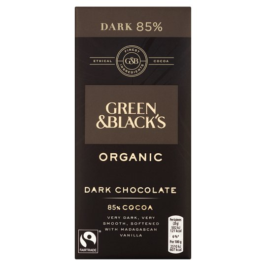 Green And Blacks Organic 85% Dark Chocolate Bar 100G