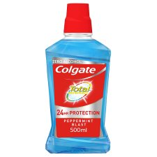 Colgate Total Advanced Peppermint Mouthwash 500Ml