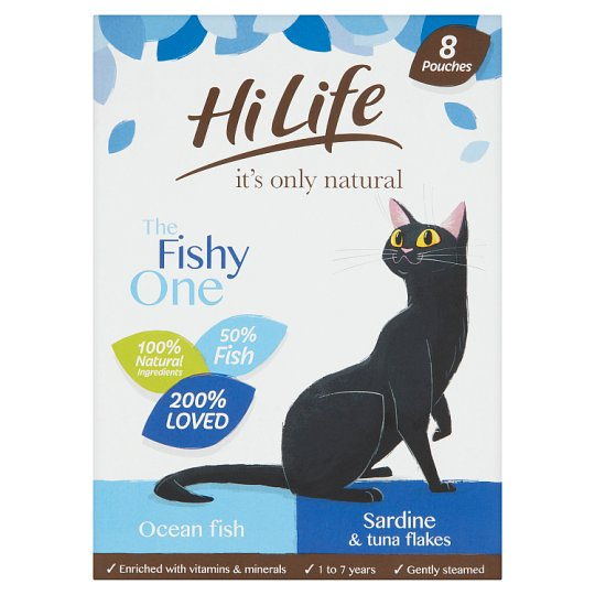 Hilife Natural The Fishy One Cat Food 8X70g