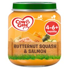 Cow And Gate Butternut Squash Salmon Jar 125G