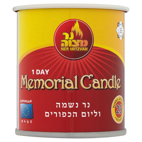 Ner Mitzvah Memorial Candle In Tin 1 Day