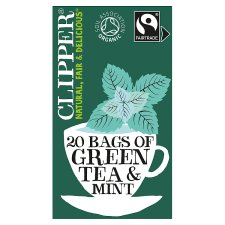 Clipper Organic Fairtrade Mint Green Tea 20'S