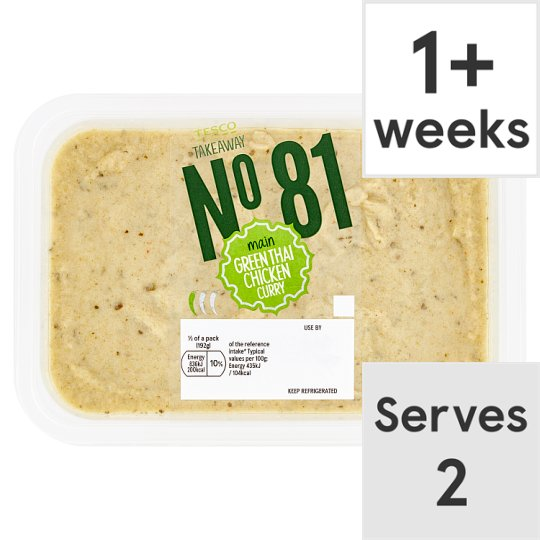 Tesco Takeaway Green Thai Chicken Curry 385G