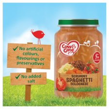image 2 of Cow And Gate Spaghetti Bolognese Jar 200G 7 Mth+
