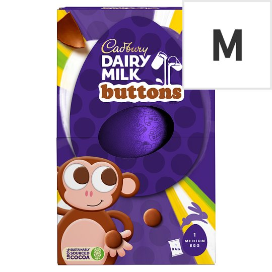 Cadbury Dairy Milk Buttons Medium Easter Egg 128G