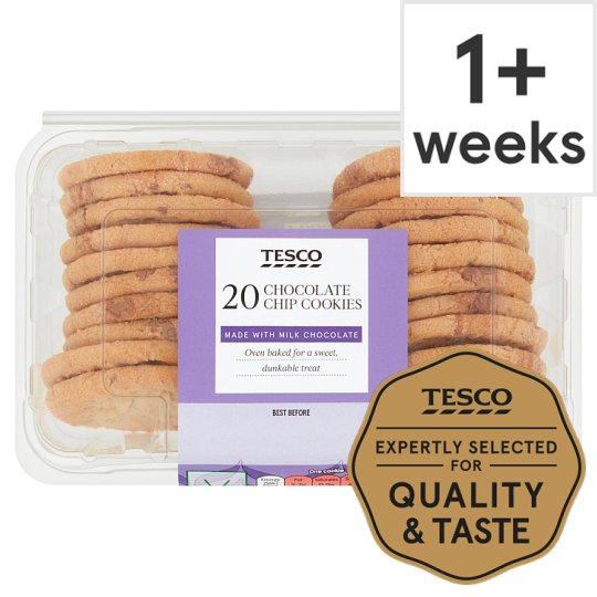 Tesco Mini Milk Chocolate Cookie Bites 20 Pack