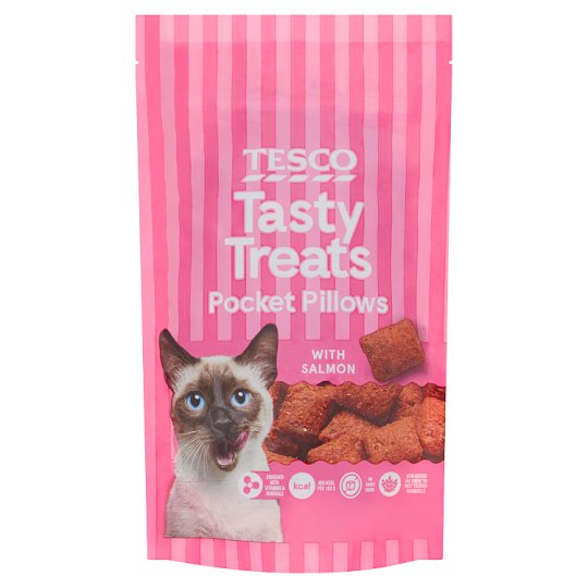 Tesco Pocket Pillows Salmon Bites 65G
